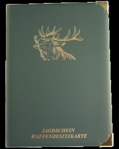 Jagdscheinetui Motiv Hirsch