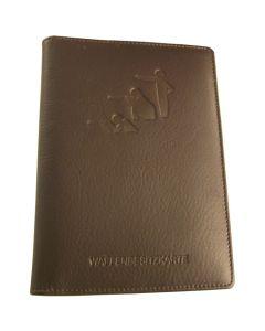 WbK - Brieftasche, Rindleder, braun, Sportschützen