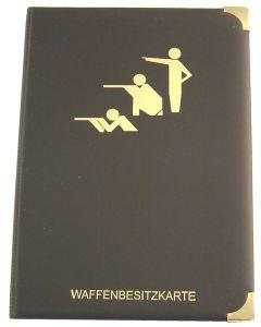 WbK Mappe 14 Fächer Sportschützenmotiv schwarz