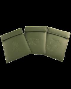 Brustbeutel für Jagdschein und WBK aus Rindleder mit Jagd Motiv