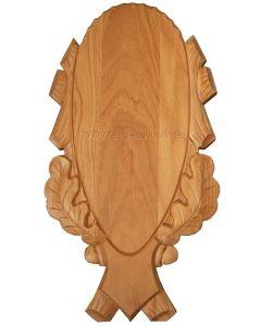 Gehörnbrett geschnitzt 65x33 cm, natur lackiert