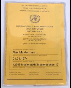 Schutzhülle Impfpass Hülle Impfpasshülle passend für neuen Impfausweis, Impfbuch Hülle, Umschlag