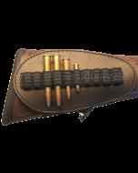 Leder Schaft Patronengurt, 10 Kugeln, dunkelbraun