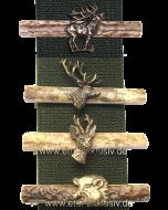 Krawattenspange aus Horn mit Wildmotiv