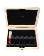 Bassoon Reed Case 6 reeds, wood cone mandrel